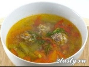 Рецепт Суп с фрикадельками (фото)