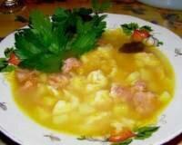 Фото: Суп с клецками и болгарским перцем