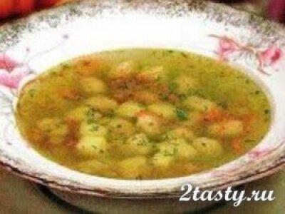 Рецепт Овощной суп с клёцками (фото)