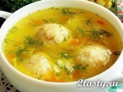 Фото: Суп с сырными шариками