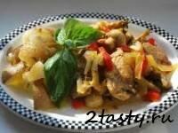 Рецепт Отварная свинина с овощами (фото)