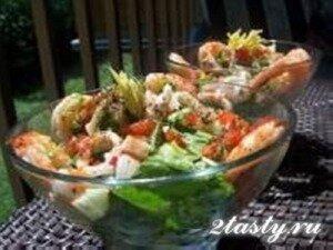 Рецепт Тайский салат из морепродуктов (фото)