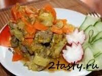 Рецепт Тушеная телятина с овощами (фото)