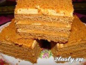 Фото: Торт со сметанным кремом «Ангарский»