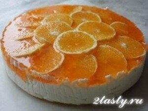 Рецепт Торт с творогом и апельсинами «Оранжевое наслаждение» (фото)