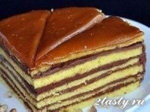Рецепт Бисквитный торт «Добош» (фото)