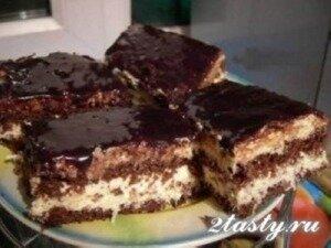 Рецепт Торт с шоколадно-кокосовым муссом (фото)