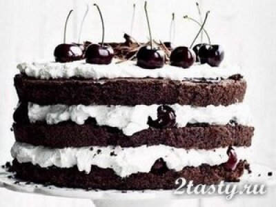 Рецепт Вишневый торт «Черный лес» (фото)