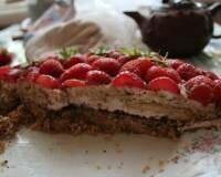 Рецепт Очень вкусный творожный торт с клубникой (фото)