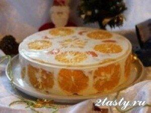 Рецепт Желейный торт «Фруктовый год» (фото)
