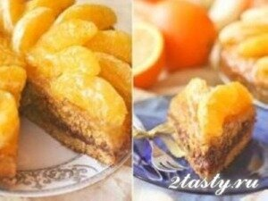 Рецепт Творожный торт с мандаринами (фото)