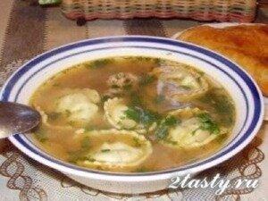 Фото: Суп с пельменями «Угра-чучвара» узбекский