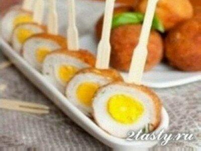 Рецепт Перепелиные яйца жаренные во фритюре по-шотландски (фото)
