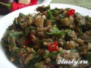 Рецепт Легкая закуска из баклажанов (фото)