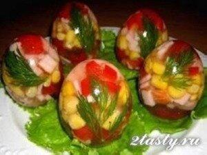 Фото: Заливные яйца «Фаберже»