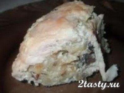 Рецепт Запеканка из макарон с фаршем, капустой и баклажаном (фото)