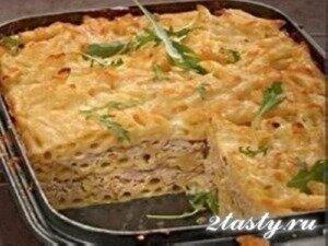 Рецепт Макаронная запеканка с мясом (фото)