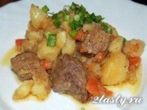 жаркое из говядины рецепт в духовке рецепт с фото