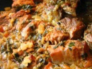 Рецепт Жаркое из говядины под соусом по-домашнему (фото)