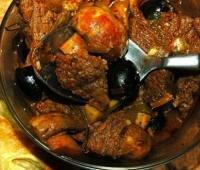 Рецепт Жаркое из говядины с грибами (фото)