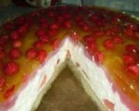 Рецепт Желейно-творожный тортик «Малинка» (фото)