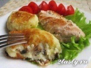 Фото: Картофельные зразы с грибами