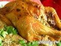 Курица фаршированная жареная